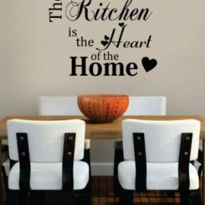 Wall Decal Quotes - Kitchen Heart o..