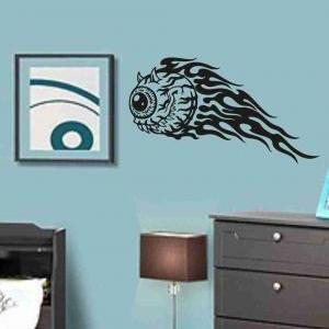 Flaming Eye Sticker Wall Art Graphi..