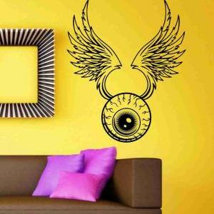 Eye With Wings Sticker Wall Art Gra..