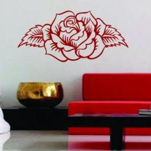 Rose Design Wall Decal Sticker Flow..