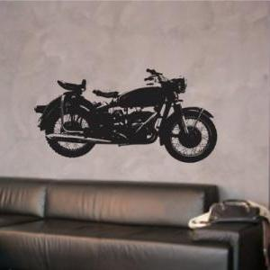 Harley Motorcycle Wall Decal Sticke..