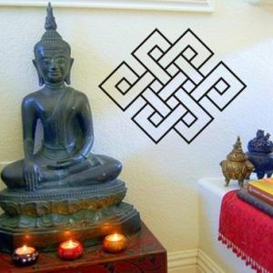 Large Endless Knot Wall Decal Stick..