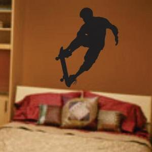 Skateboarder Wall Decal Sticker Tee..