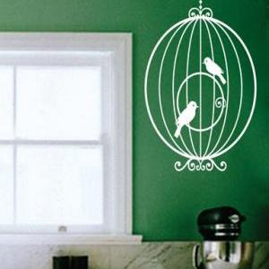 Birdcage with birds Wall Mural Deca..