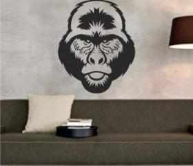 Gorilla Face Sticker..