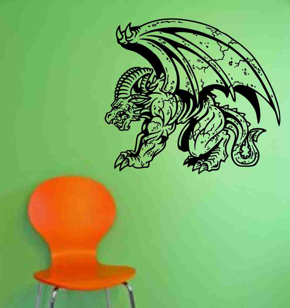 Gargoyle Version 103 Decal Sticker Wall Art Graphic Dragons Cartoon