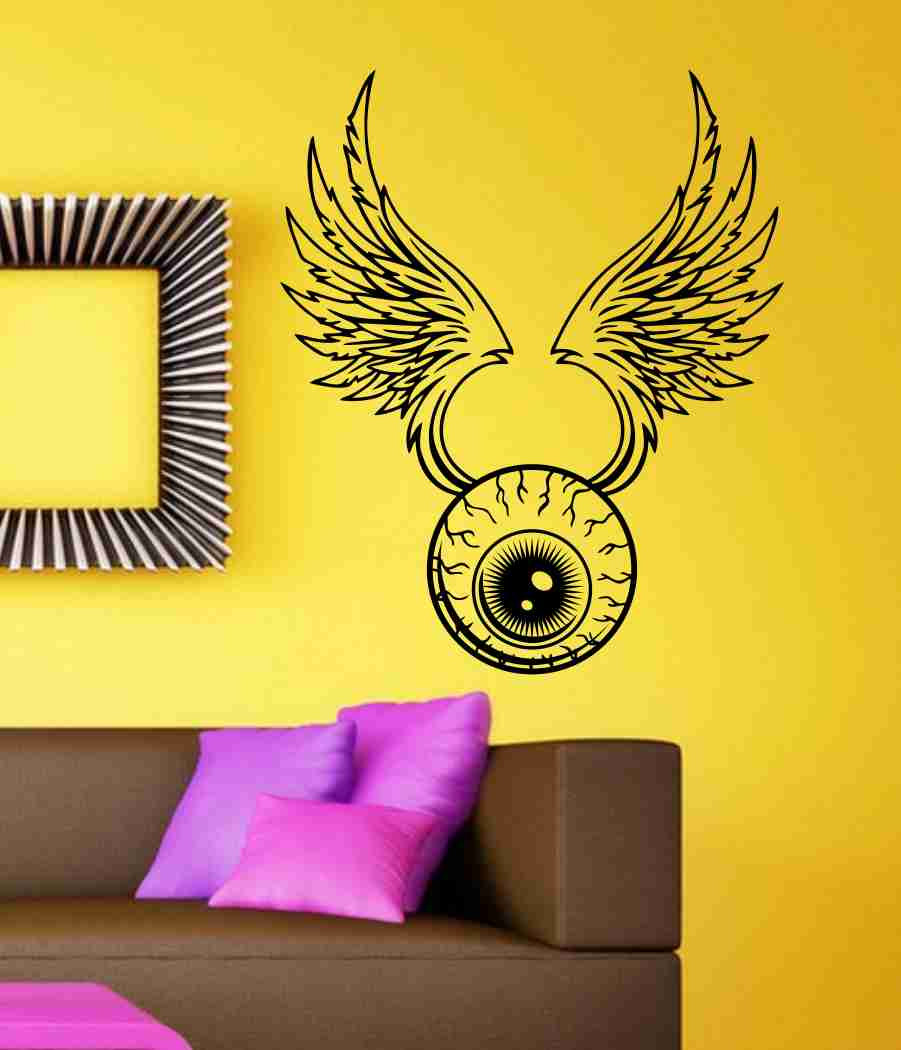 Eye With Wings Sticker Wall Art Graphic Dragons Cartoon
