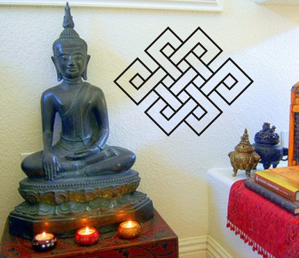 Large Endless Knot Wall Decal Sticker