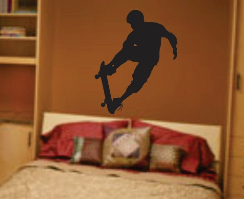 Skateboarder Wall Decal Sticker Teen Room Decor Series 1