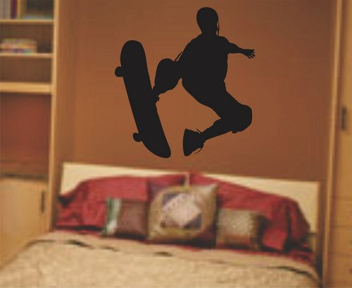 Skateboarder Wall Decal Sticker Teen Room Decor Series 3