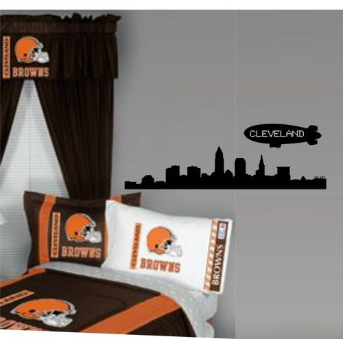 Cleveland City Skyline Decal Sticker Wall Art Graphic LeBron Cavs Browns Indians